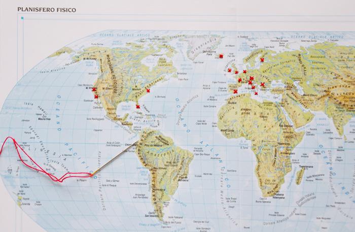 Cartina Mondo Ikea.Discover The World Diy