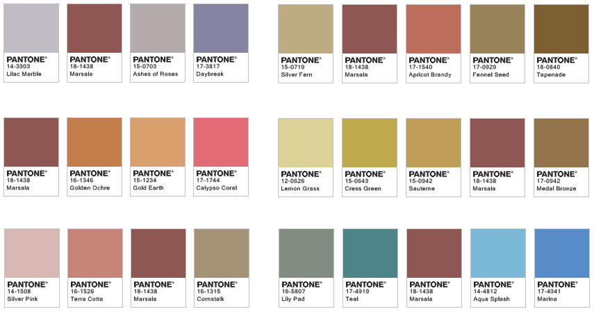 Ben noto MARSALA: PANTONE COLOR OF THE YEAR JX91