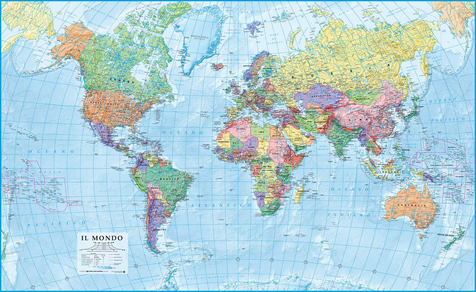 Travelling around the world - Foto della mappa del mondo da stampare ...