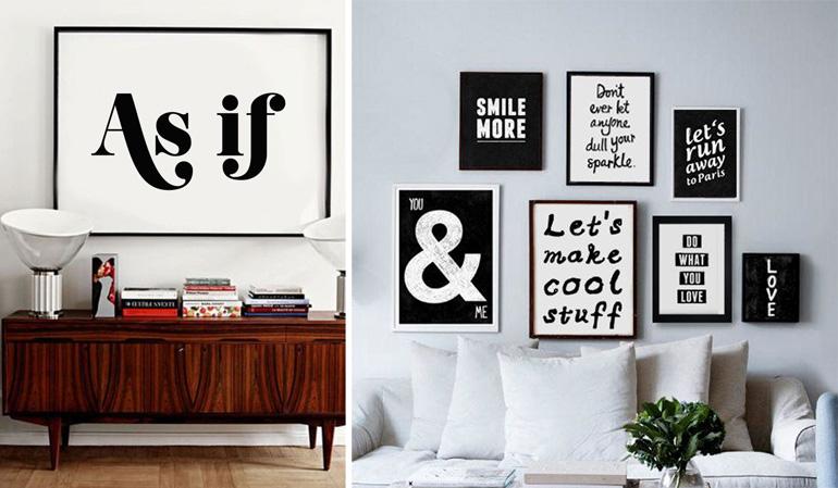 Typography Art Inspirational Quote