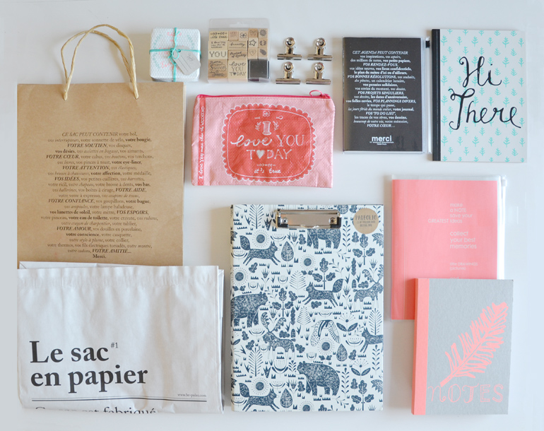 shopping paris stationery