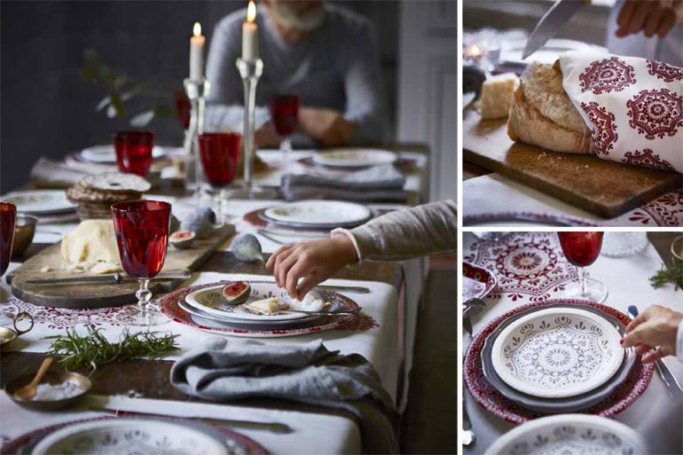 Collezione di Natale-ikea-tavola-rossa