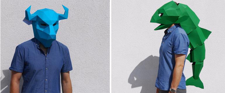 maschere di carta