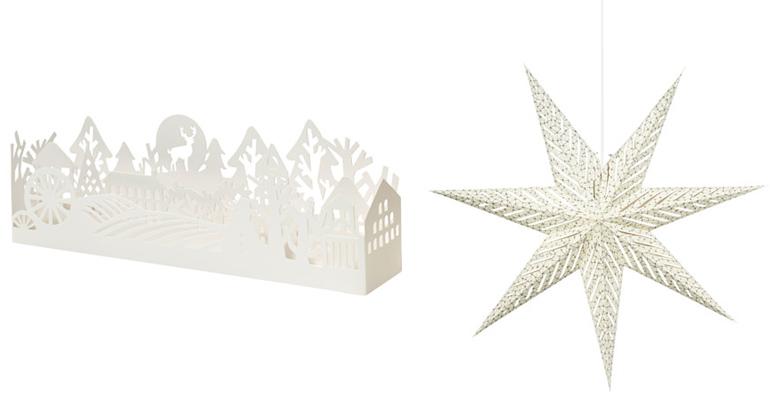 decorazioni natale ikea bianche