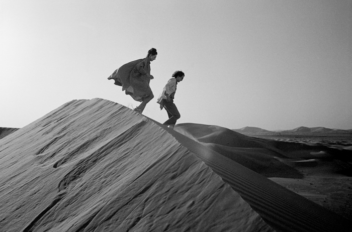 The Mastaba - Christo and Jeanne-Claude looking for a possible site for The Mastaba