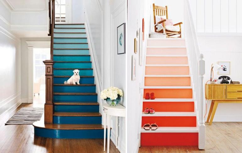 stairs rainbow