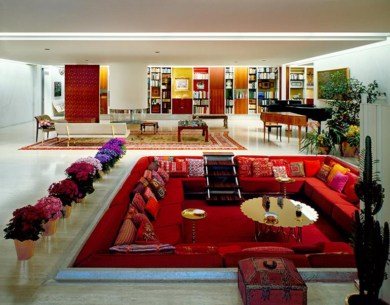Miller House, Columbus, Indiana, USA. Architettura Eames – interni Alexander Girard, 1953–1957. Oggi la Miller House è dell'Indianapolis Museum of Art e prima o poi andrò a visitarla!