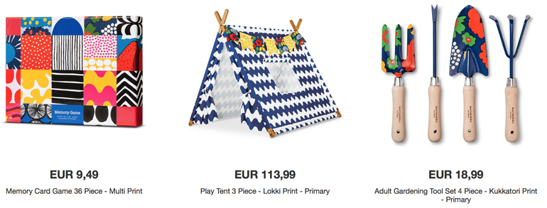 Marimekko collection for Target kids