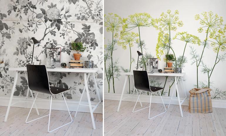 La primavera sboccia su abiti e accessori per la casa - Ikea carta parati ...