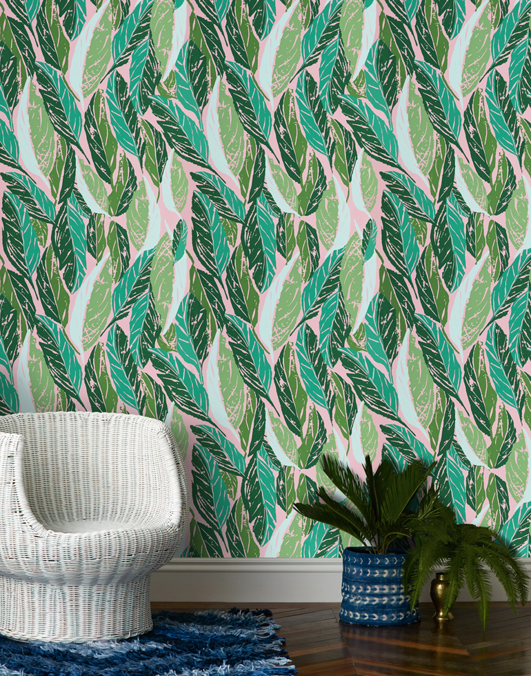 Justina Blakeney's wallpaper for Hygge&West