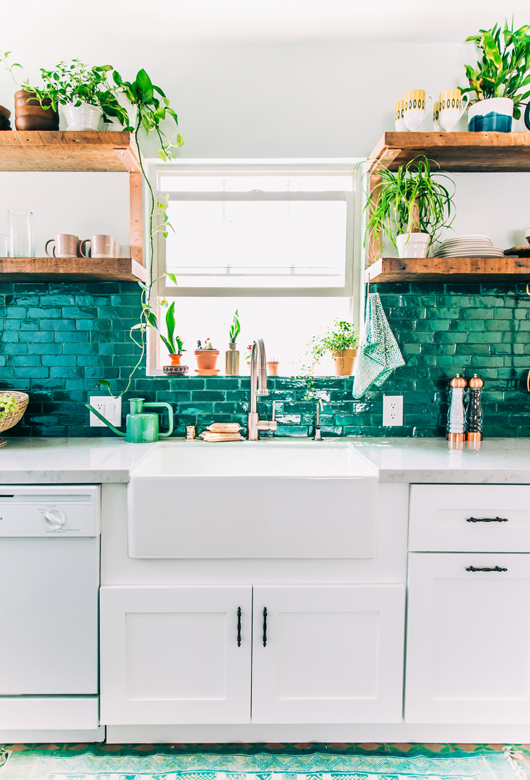 Justina Blakeney's Kitchen, jungalow style
