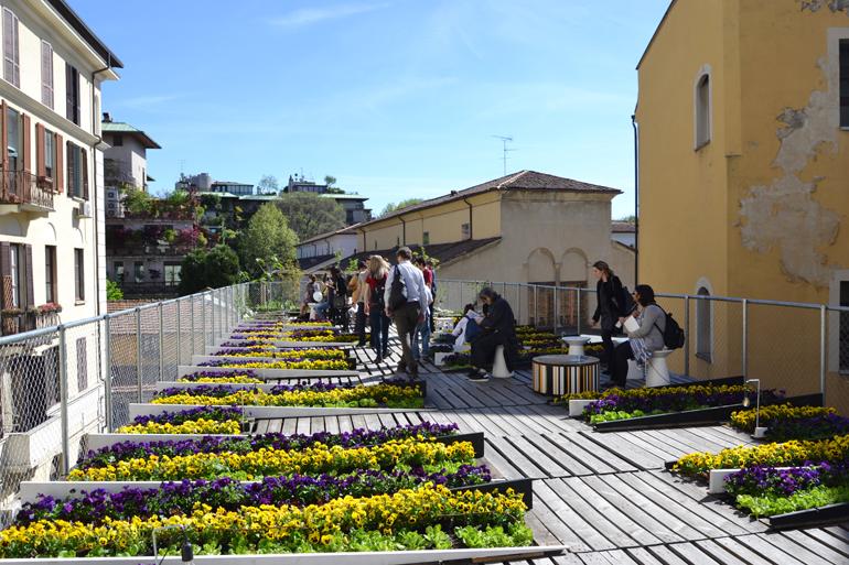 Piuarch, Orto cinetico - Via Palermo 1, rooftop