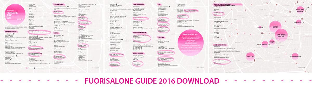 Guida Fuorisalone 2016