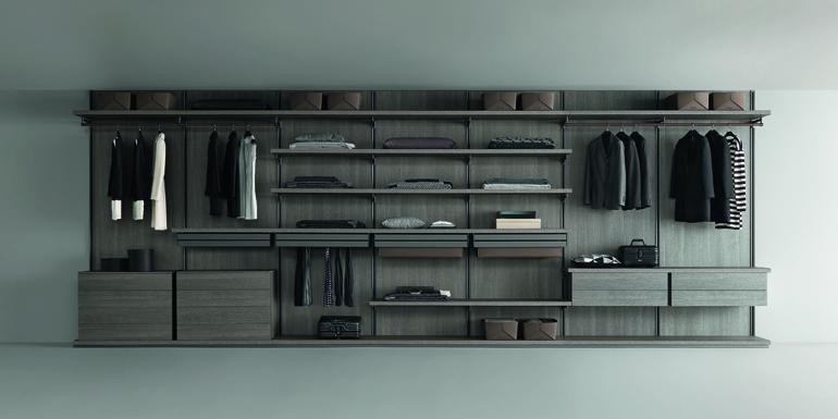 Cabine armadio perfettamente organizzate da Rimadesio