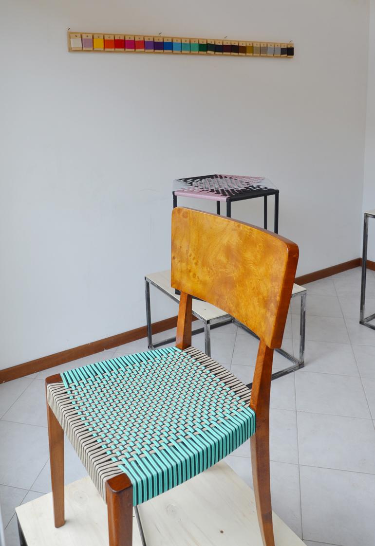 Nodo - laboratorio italiano, di Cassano d'Adda, che realizza intrecci su arredi di recupero