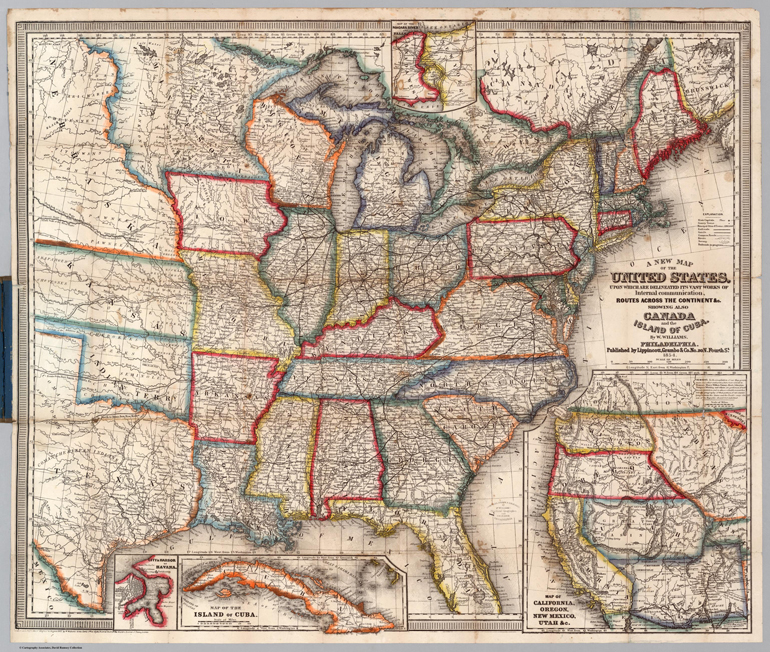 Stati Uniti cartina 1800