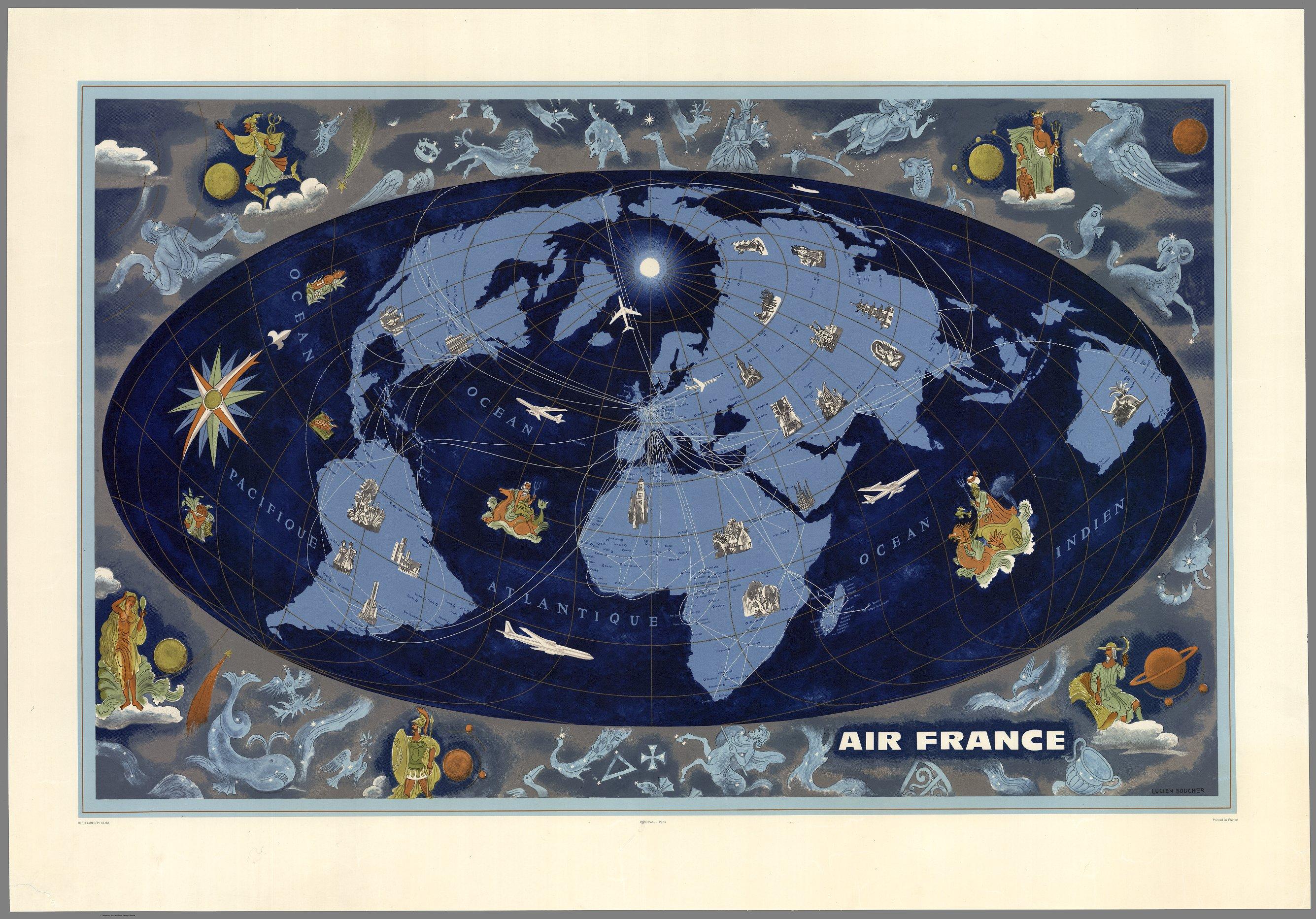 Air France, Lucien Boucher, 1962