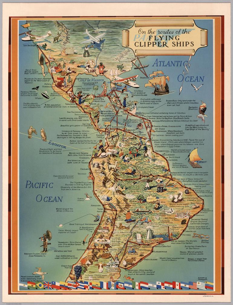 Pan American Airways, 1940 Sud America