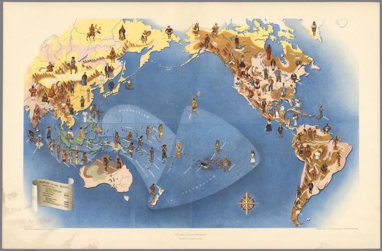 """Miguel Covarrubias, People of the Pacific, 1940 [come la foto di copertina, """"Fauna e Flora of the Pacific"""""""