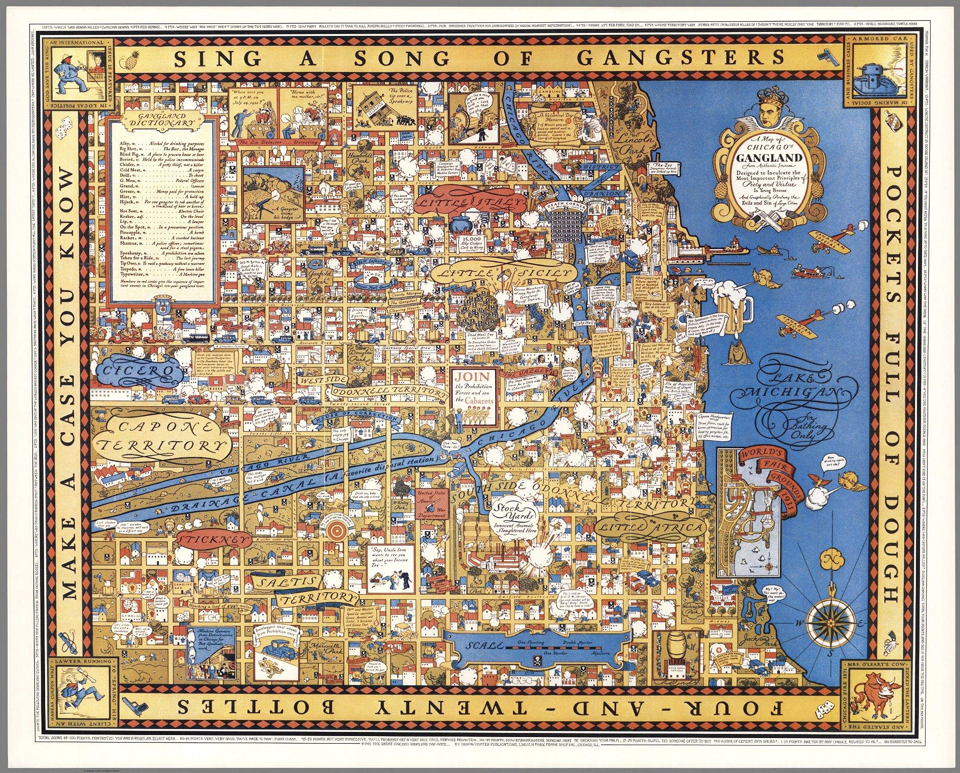 Chicago Gangland, 1931. La mappa dei Gangsters!