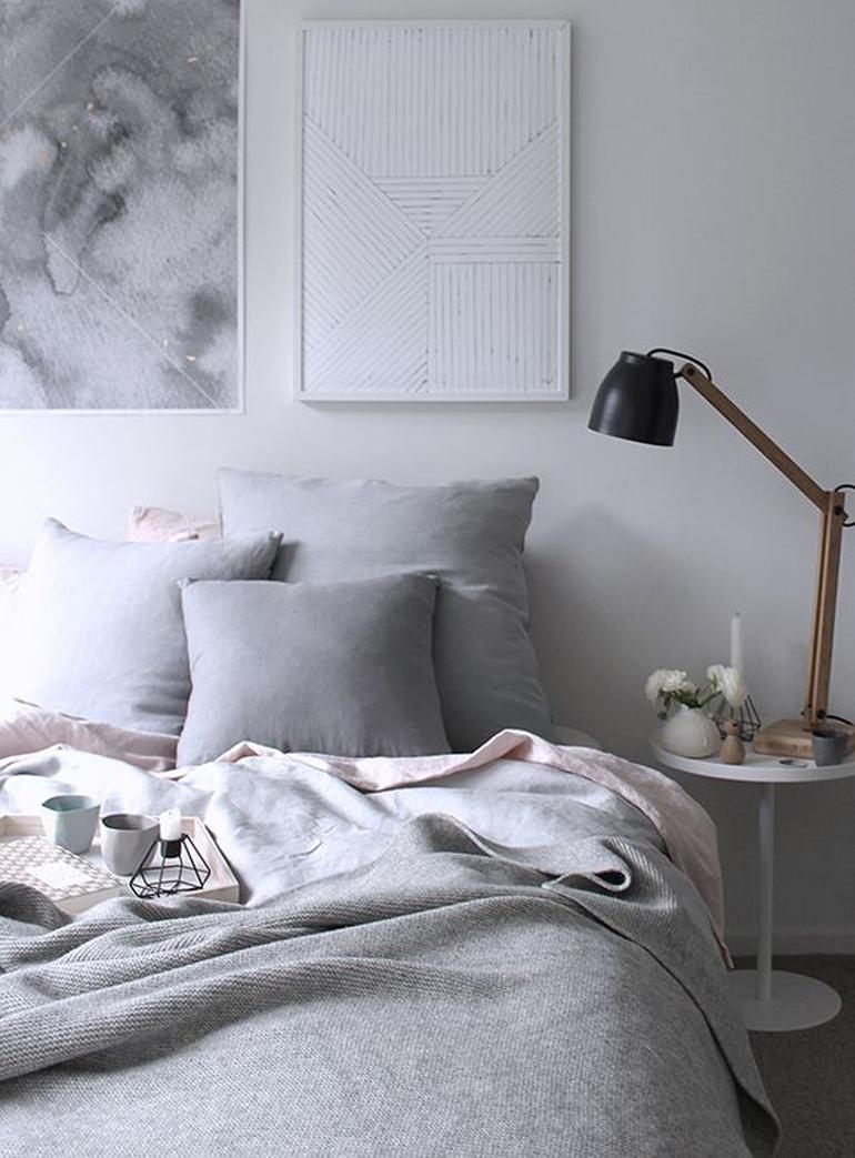 camera-da-letto-colore-grigio
