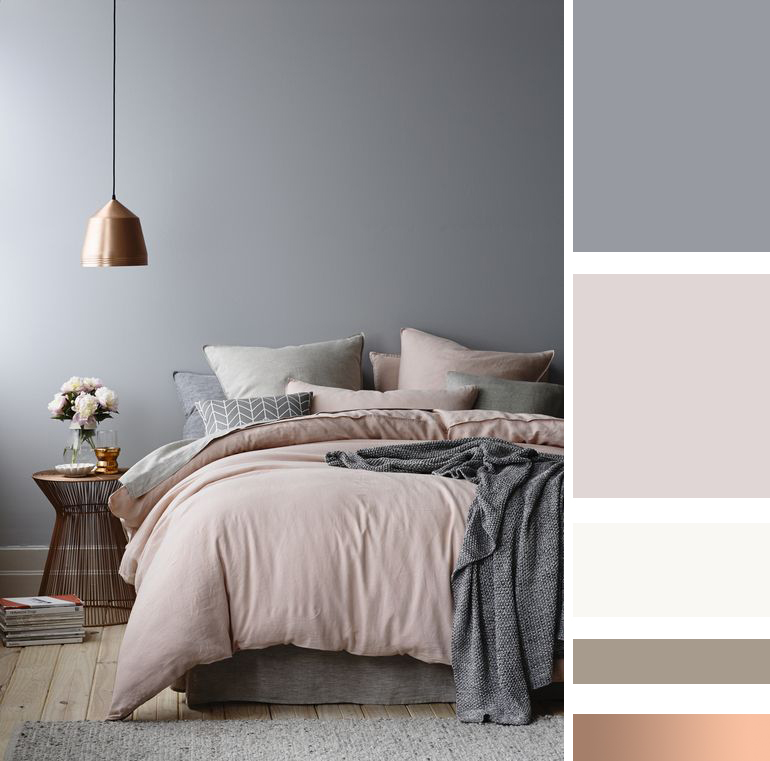 camera-da-letto-colori-rosa-rame