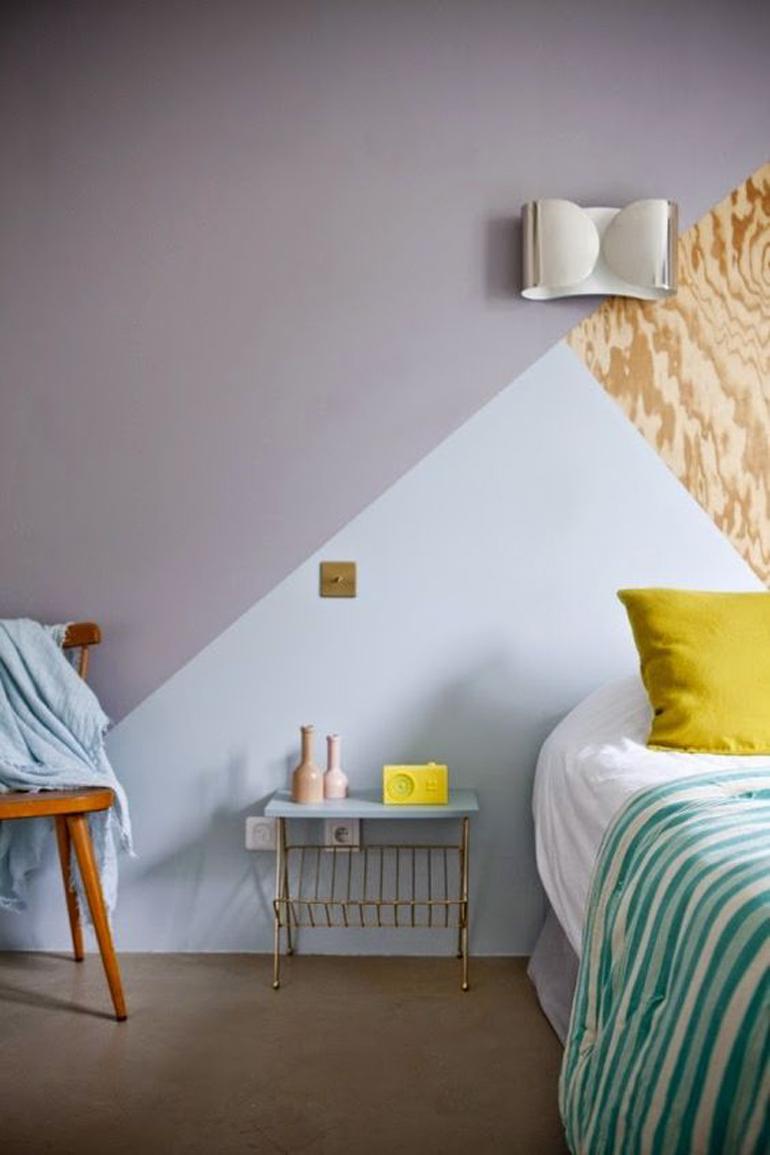 Camera da letto le mie ispirazioni for Peindre des formes geometriques sur un mur