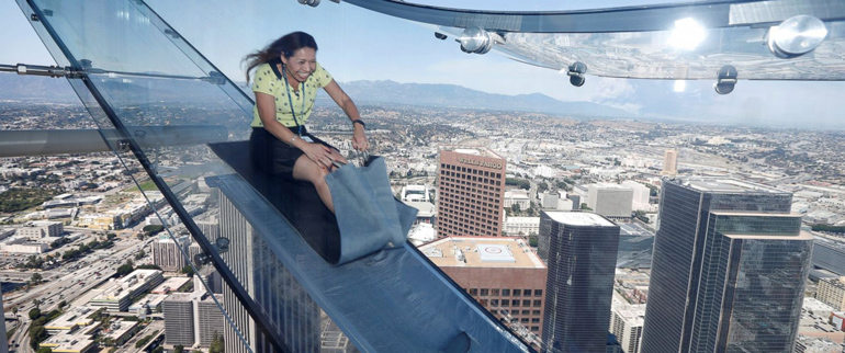 los angeles u.s. bank tower slide