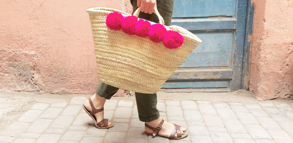 [YONDER.living] Pom Pom Shopper Basket, Thali, £32, lifestyle