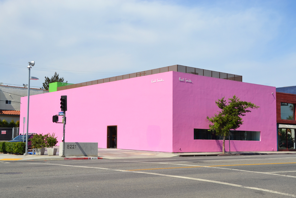 los-angeles-pink-wall-paul-smith-store
