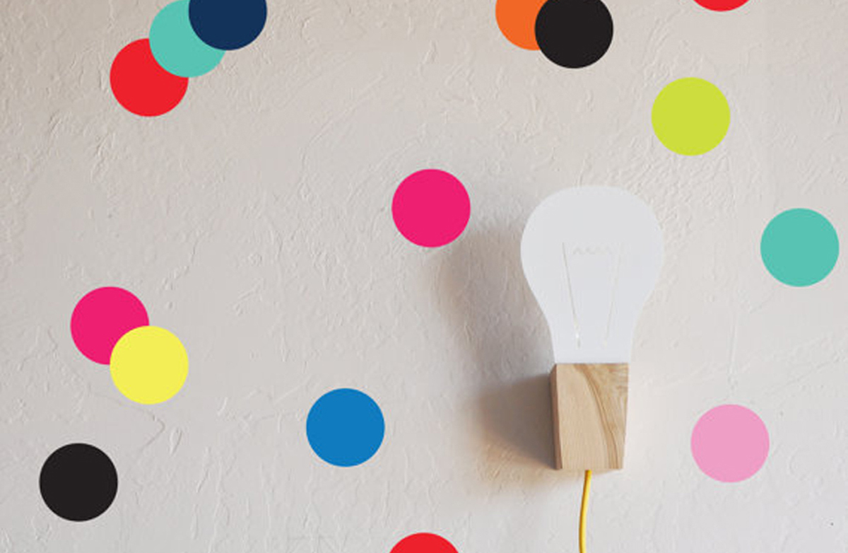Pareti Cameretta A Pois : Pois per la cameretta gli sticker da parete