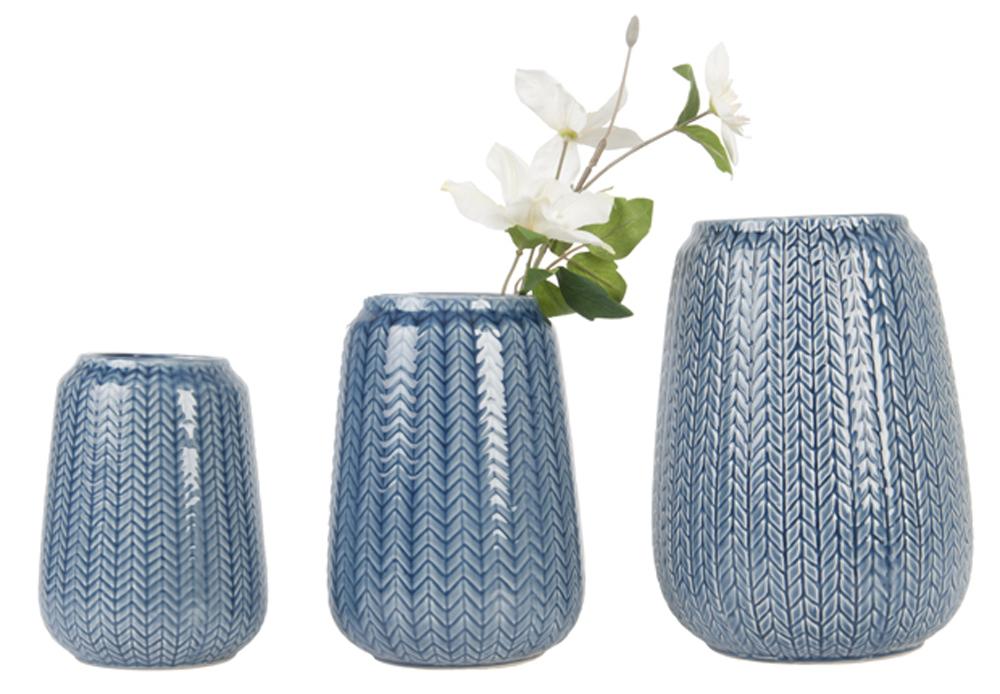 vasi effetto maglia