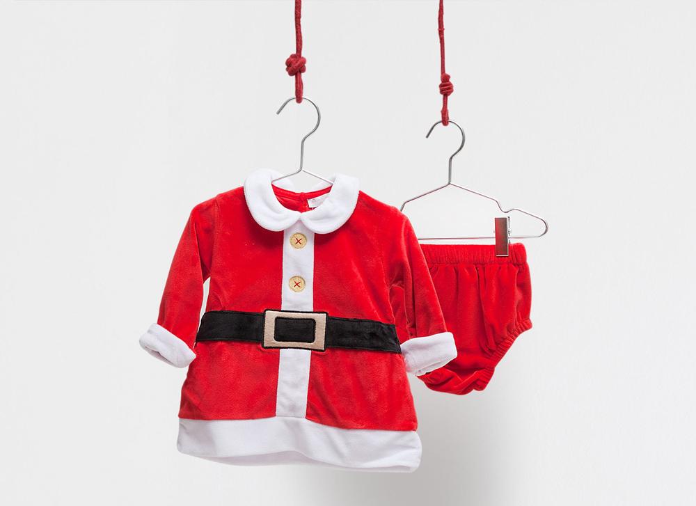 vestito da babbo natale per bambini