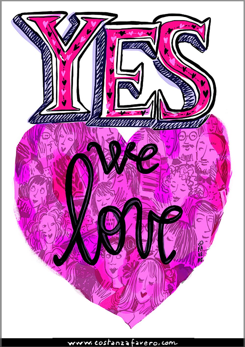 san valentino YES WE LOVE creato da Costanza Favero