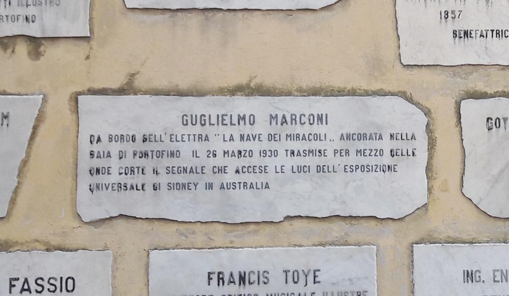 Guglielmo Marconi Portofino Esposizione Universale Sidney