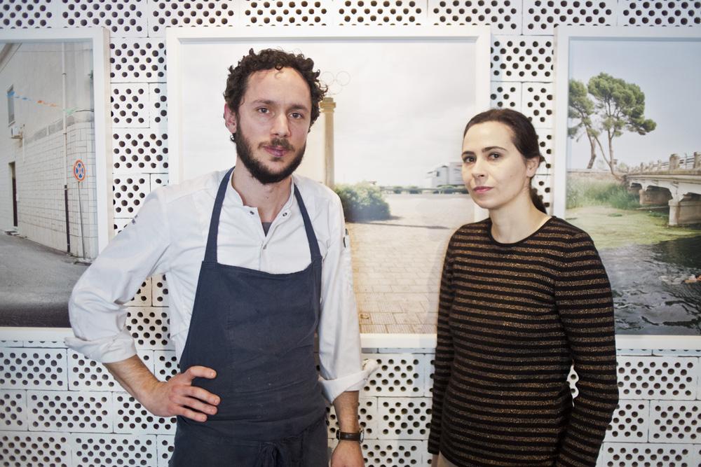Lo chef Marco Ambrosino e la designer Cristina Celestino