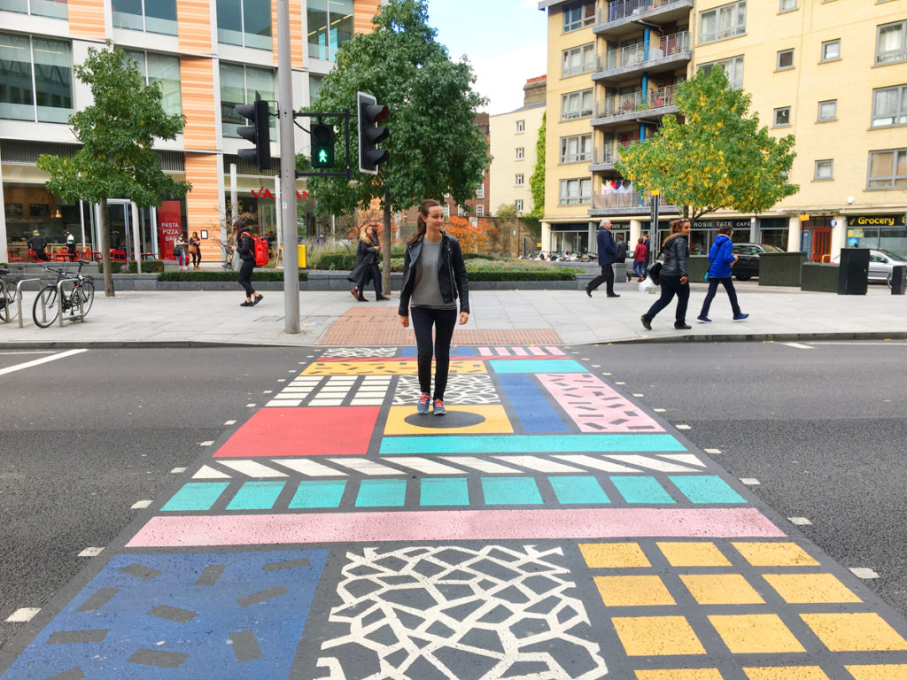camille walala pedestrian crossing london