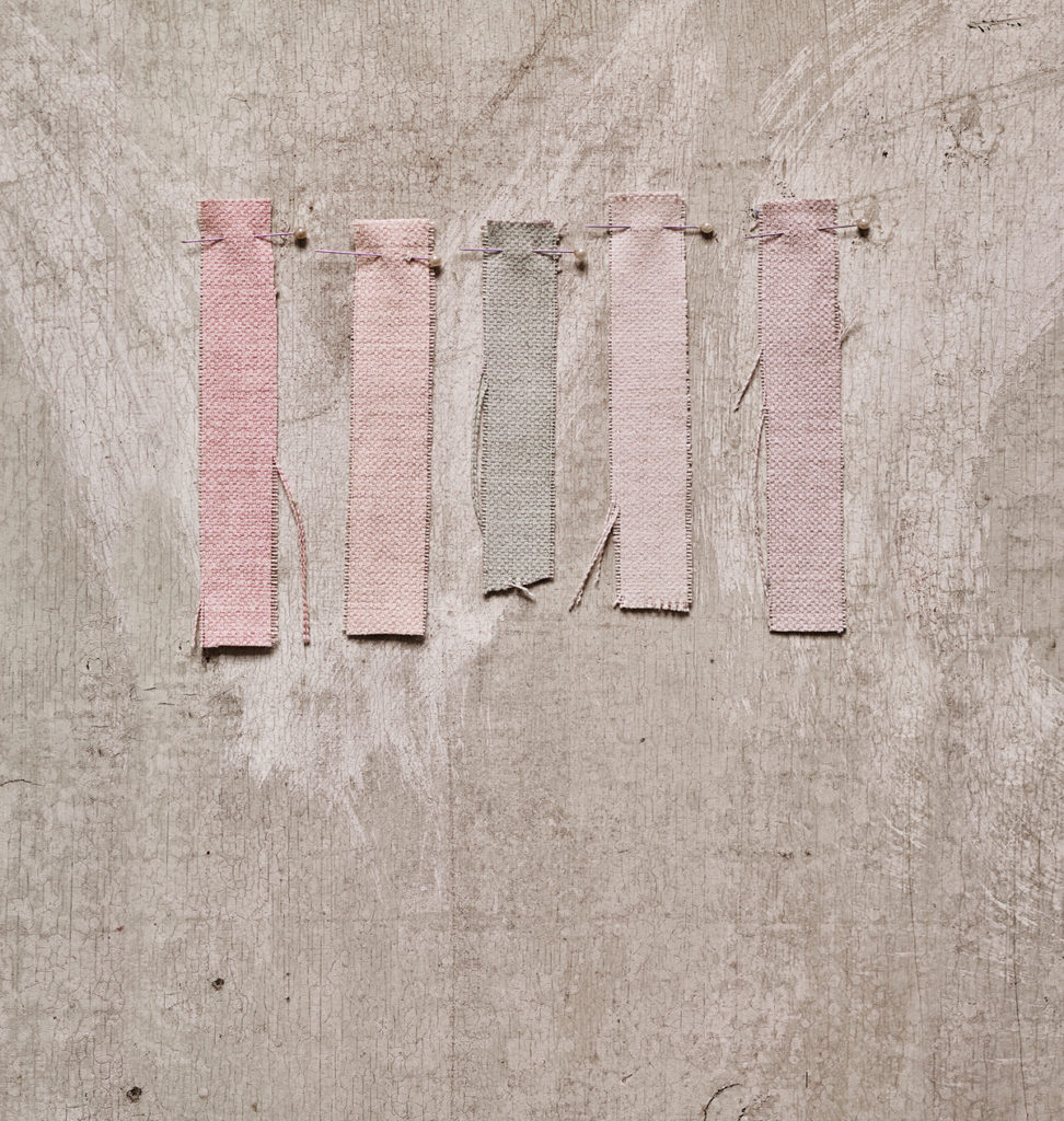 rosa quarzo tessuto