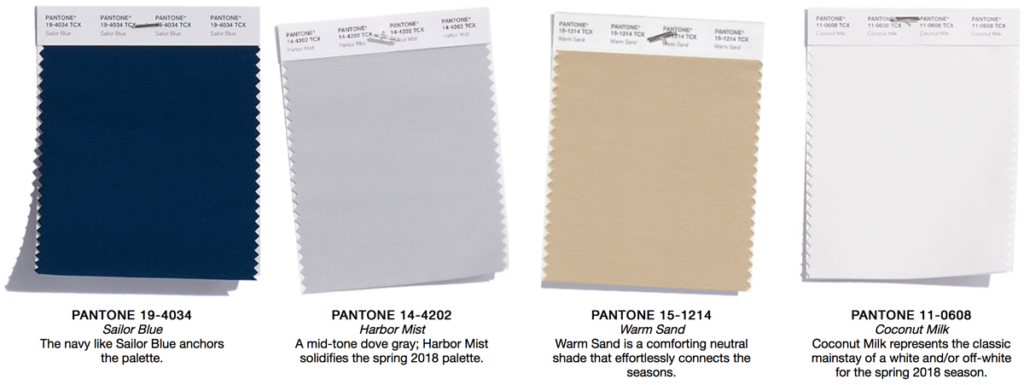 Pantone color trend forecast for the spring 2018 for Pantone 2017 2018