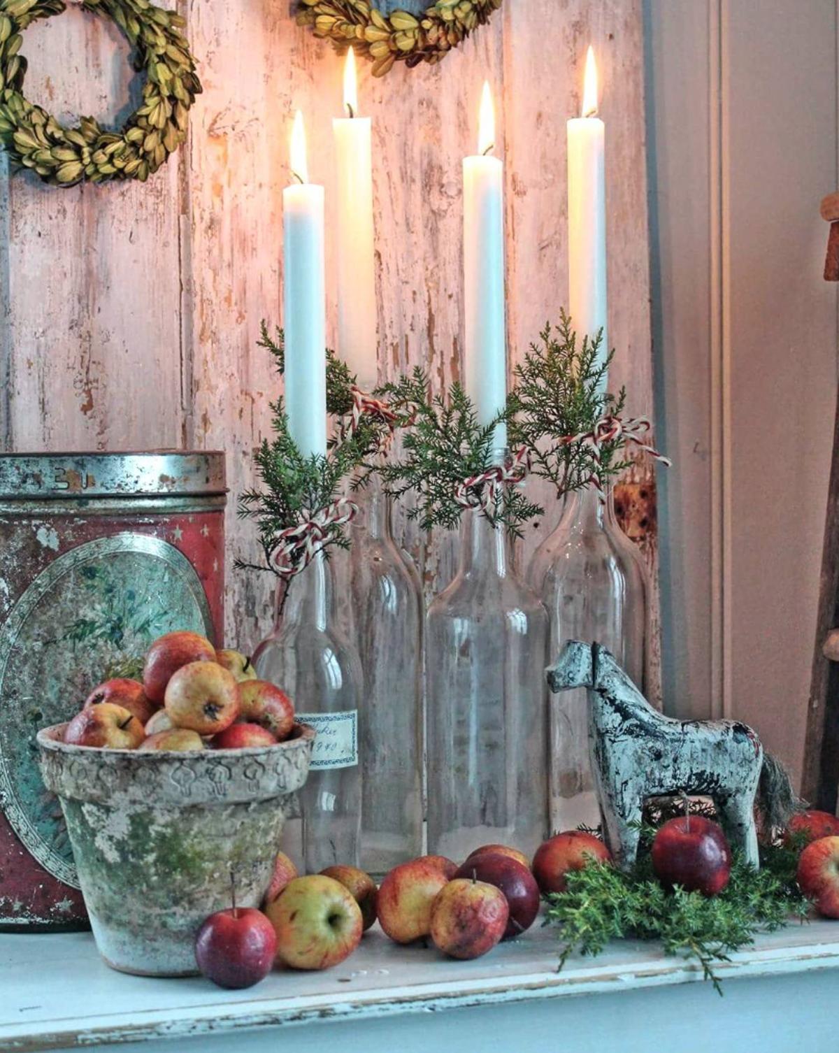 5 idee per decorare con le candele - Decorare candele per natale ...