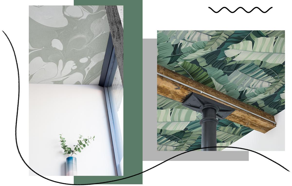 Carta da parati dove non ti aspetti anche sul soffitto for Carta parati soffitto