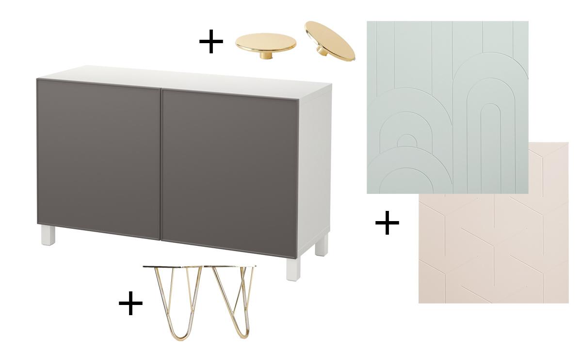 Pomelli, piedini e frontali per personalizzare i mobili Ikea