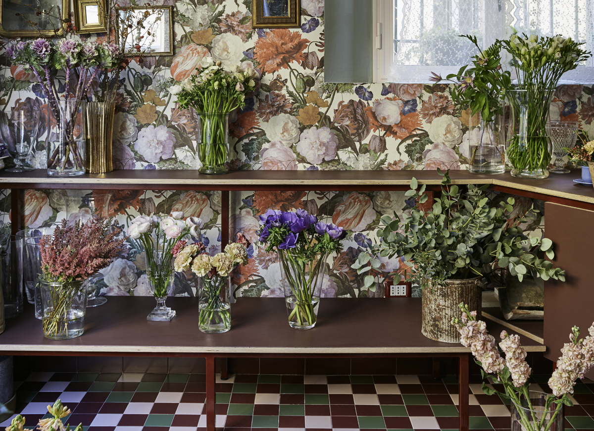 A Beautiful Flower Shop In Bologna