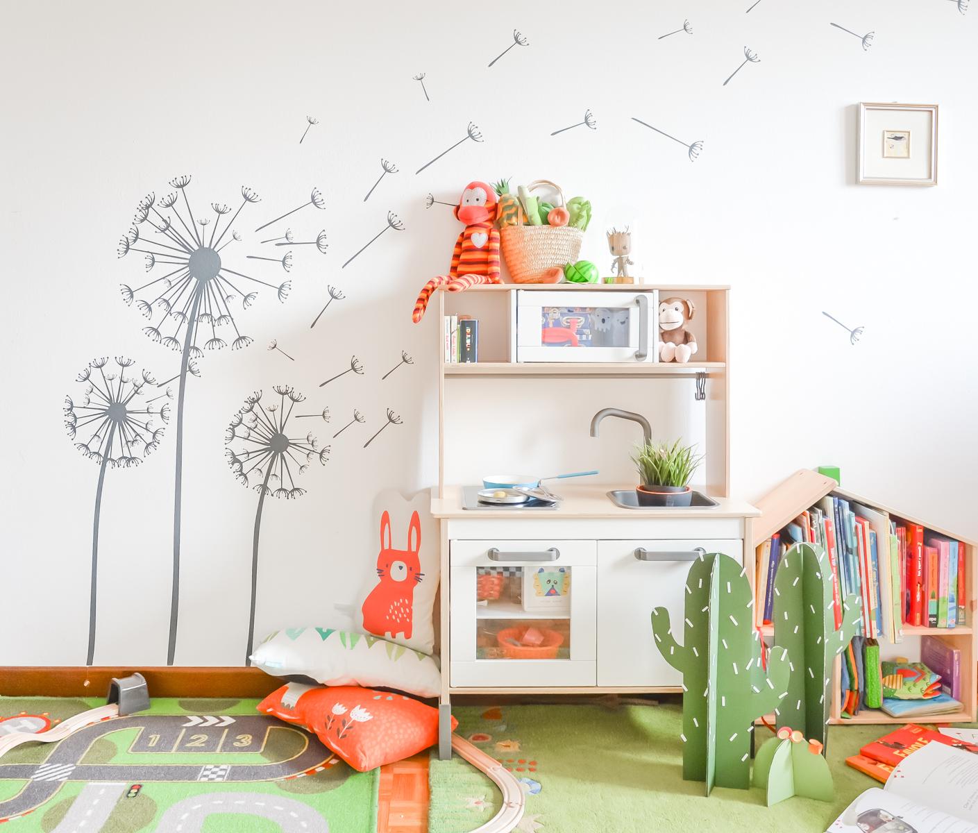 Muri Camerette Per Bambini una cameretta per due da decorare