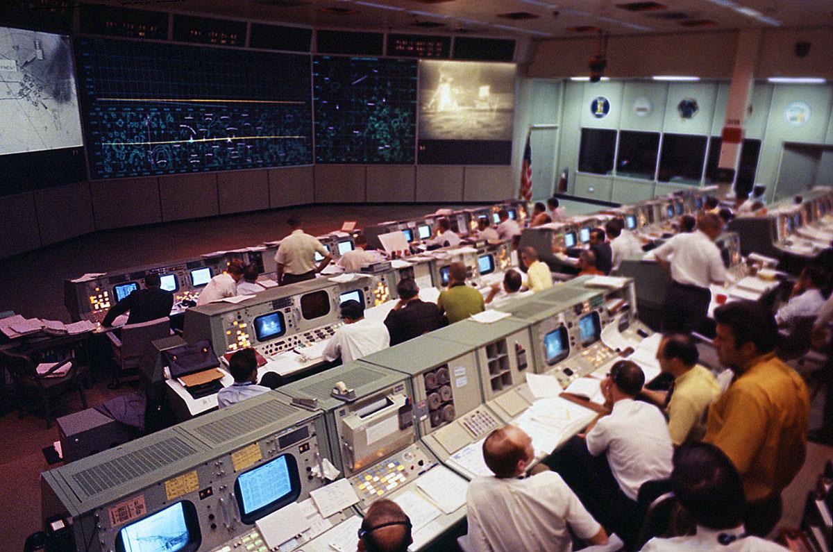 At Nasa Visiting The Apollo 11 Mission Control Room