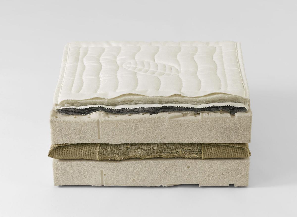 materasso in lattice naturale torba e paglia